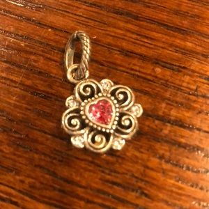 Brighton Pink Heart Charm for bracelet necklace